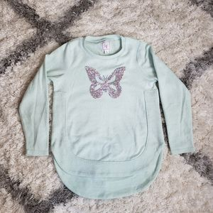 Sweater butterfly printed
